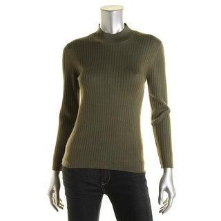 Alexa Chung for AG Womens England Wool Long Sleeves Mock Turtleneck Sweater