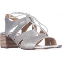 naturalizer Felicity Block Heel Lace Up Sandals, Silver