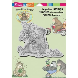 """Stampendous Gruffies Cling Stamp 5.5""""X4.5""""-Lilac Bear"""