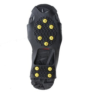 AGPtek Ice Snow Anti Slip Teeth Grip Shoe Covers Overshoes Snow Shoes Crampons Cleats S