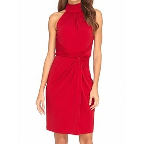 2aeee2884f265 Catherine Malandrino NEW Red Womens Size 12 Twist-Front Sheath Dress