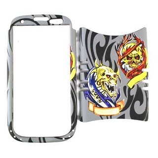 Unlimited Cellular Rocker Snap-On Case for Samsung Galaxy S3 (3D Embossed Two Sk