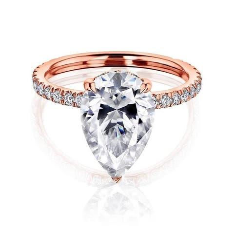 Annello by Kobelli 14k Gold Payton Engagement Ring (FG/VS, DEF/VS)