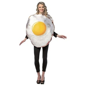 Fried Egg Breakfast Adult Food Halloween Costume - standard - one size