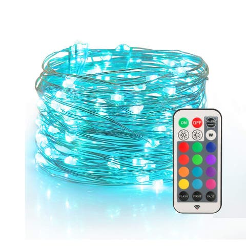 Fairy Lights USB Plug-in String Lights with RF Remote - Medium