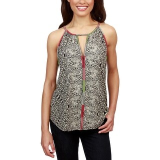 Lucky Brand Womens Pullover Top Paisley Keyhole - XL