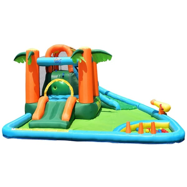 7 in1 Inflatable Slide Bouncer with Two Slides. Opens flyout.
