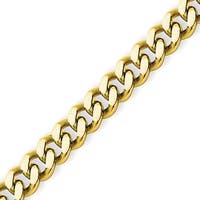 Stainless Steel 4mm IP Gold-plated Curb Chain - 30 Inches (4 mm) - 30 in