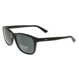 Ralph Lauren PH4085 500187 Black Rectangle Sunglasses