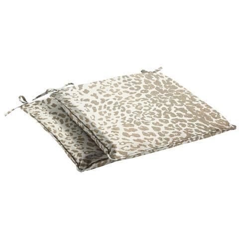 Sunbrella Tan Leopard Indoor/Outdoor Chair Pad Set, Corded