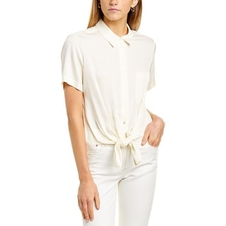Link to Theory Hekanina Core Silk-Blend Shirt Similar Items in Pants