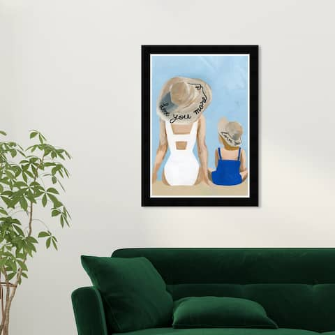 Wynwood Studio 'Love you more' People and Portraits Wall Art Framed Print Portraits - Blue, Brown