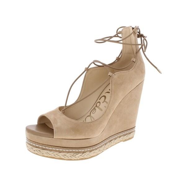 Sam Edelman Womens Harriet Wedge Sandals Suede Espadrille - 9 medium (b,m)