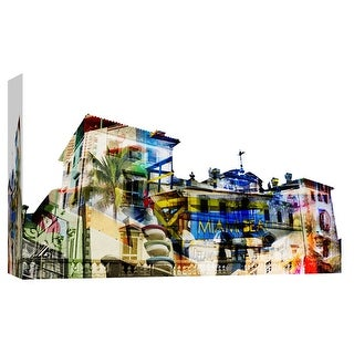 """PTM Images 9-103663  PTM Canvas Collection 8"""" x 10"""" - """"Miami Spirit"""" Giclee Buildings and Landmarks Art Print on Canvas"""