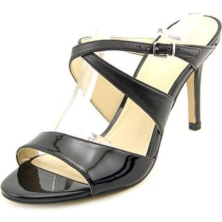 Marc Fisher Joy 3 Women Open Toe Patent Leather Black Sandals