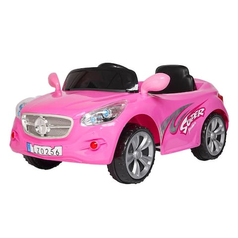 Double Drive Powered Ride On Toy 35W*2 Kid's Ride-On Car for Boys & Girls