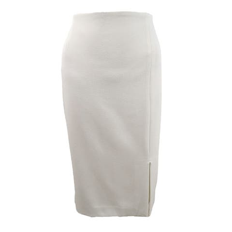 Tahari ASL Women's Petite Front-Slit Crepe Pencil Skirt