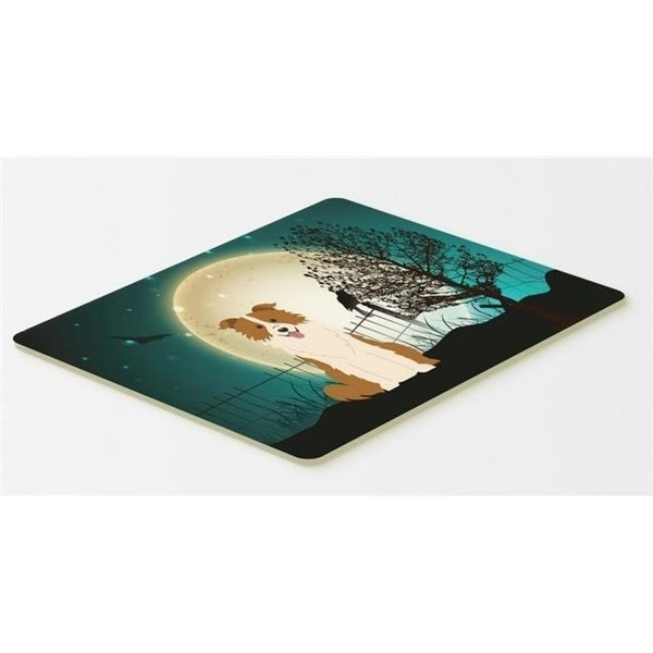 Carolines Treasures BB2309CMT Halloween Scary Border Collie Red & White Kitchen or Bath Mat 20 x 30