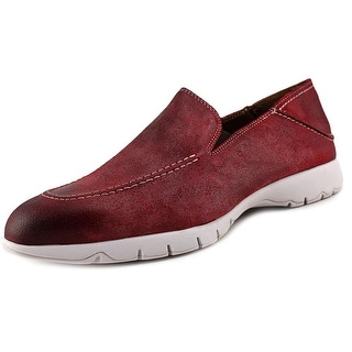 Hush Puppies Five Base Men Round Toe Suede Red Loafer