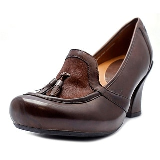 Earthies Carenna   Round Toe Leather  Heels