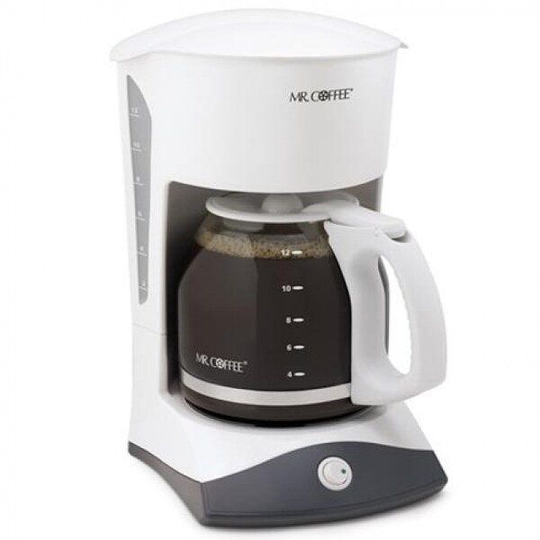 Mr. Coffee SK12 Coffeemaker, 12-Cup, White