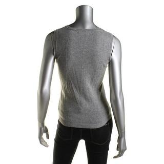 Private Label Womens Cashmere Crew Neck Sweater Vest