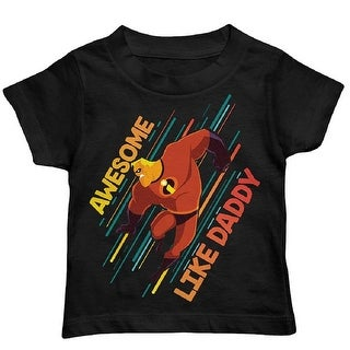 Pixar Disney The Incredibles Toddler Boy Awesome Like Daddy Cotton Graphic T-Shirt