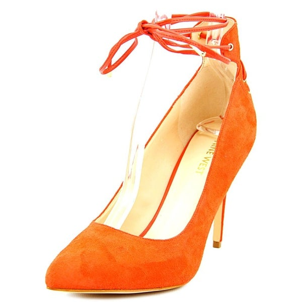 Nine West Ebba Women Red Orange Pumps
