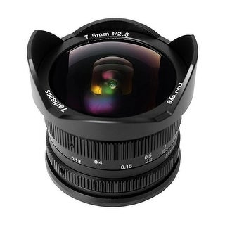 7artisans 7.5mm f/2.8 APS-C Fisheye Fixed Lens (Black) for Sony E-Mount Cameras - Black