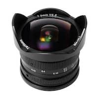 7artisans 7.5mm f/2.8 Fisheye Fixed Lens (Black) for MFT Mount Cameras - Black