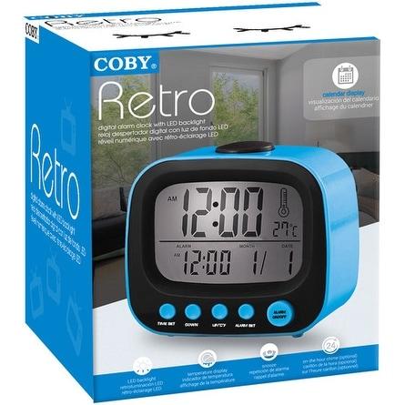 Coby Cbc-52-Blu Retro Alarm Clock