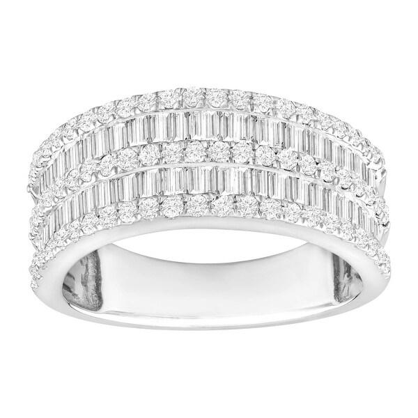 1 1/2 ct Diamond BandRing in 14K White Gold