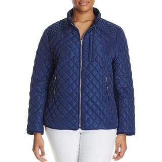 Bagatelle Womens Plus Quilted Coat Fall Lightweight