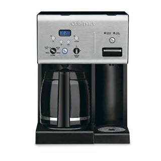 Conair CHW-12 Cuisinart CHW-12 Coffee Plus 12-Cup Programmable Coffeemaker with Hot Water System Black-Stainless