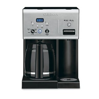 """Conair CHW-12 Cuisinart CHW-12 Coffee Plus 12-Cup Programmable Coffeemaker with Hot Water System Black-Stainless"""