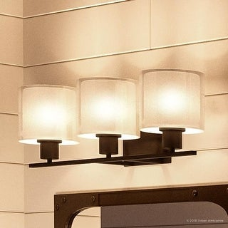 """Luxury Cosmopolitan Bathroom Vanity Light, 7.375""""H x 23.5""""W, with Transitional Style, Olde Bronze Finish by Urban Ambiance"""