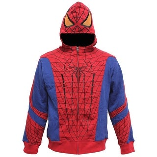 Marvel Comics Spider-Man Boys' Open Park Costume Mask Hoodie