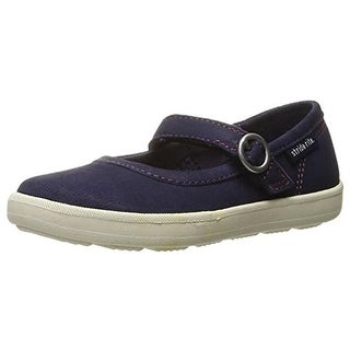 Stride Rite Girls Simone Contrast Trim Leather Mary Janes - 4 wide (c,d,w)