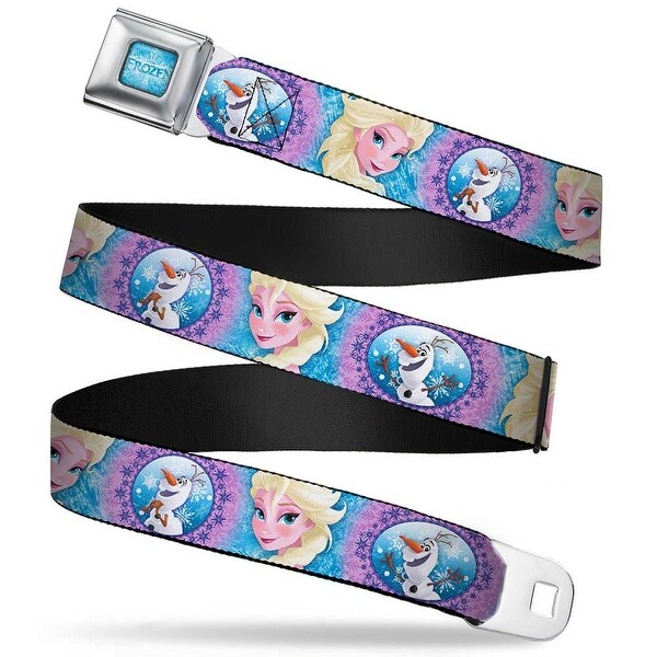 Frozen Logo Full Color Blues Frozen Elsa Poses Olaf Pose Cameos Blues Seatbelt Belt