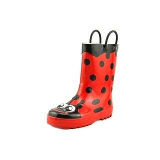 Western Chief Ladybug Round Toe Synthetic Rain Boot