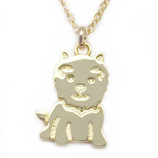 "Julieta Jewelry Dog Gold Charm 16"" Necklace"
