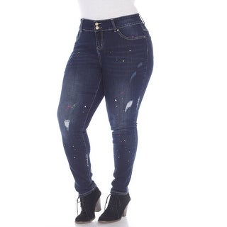 Link to White Mark Women's Plus Size Paint Effect Denim Similar Items in Pants