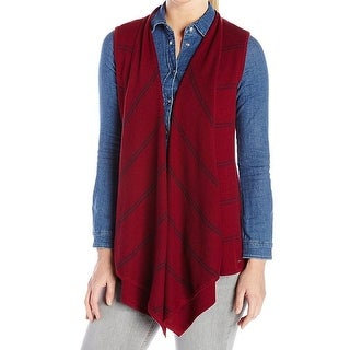 Tommy Hilfiger NEW Red Womens Size XL Knit Open-Front Cardigan Sweater