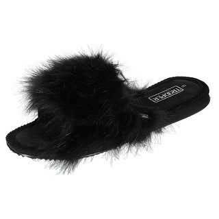 Trooper America Faux Fur Slide Slipper