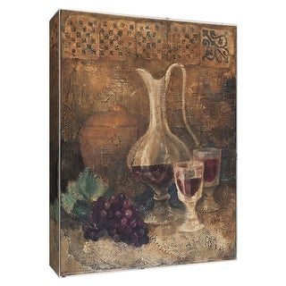 "PTM Images 9-154493  PTM Canvas Collection 10"" x 8"" - ""Villa Wine II"" Giclee Wine Art Print on Canvas"