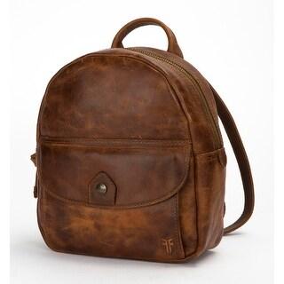 Frye Womens Melissa Mini Backpack, Cognac, Os
