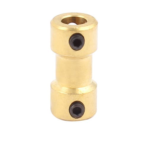 3.17mm to 5mm Copper DIY Motor Shaft Coupling Joint Electric Car Toy Connector
