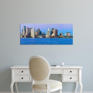 Easy Art Prints Panoramic Image 'Boston Harbor, Boston skyline at sunrise, Massachusetts, New England' Canvas Art