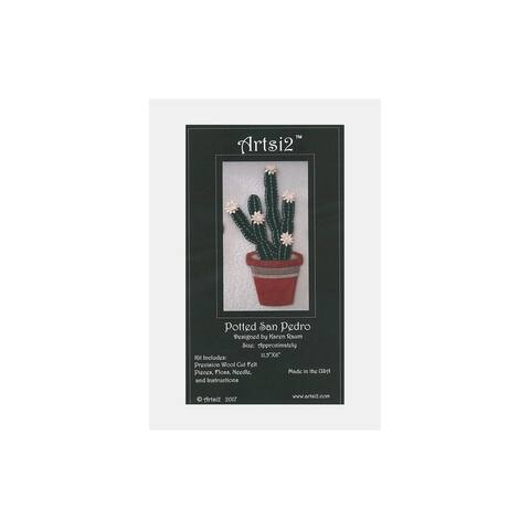 Artsi2 PC Wool Felt Kit Potted San Pedro