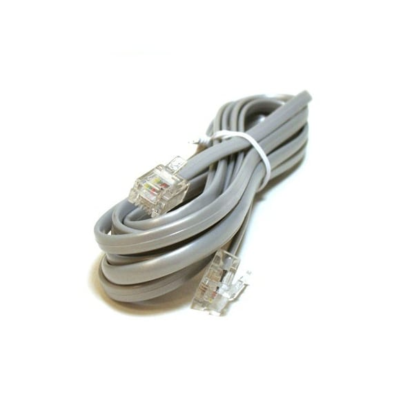 Monoprice Phone Cable, RJ11 (6P4C), Straight - 7ft for data